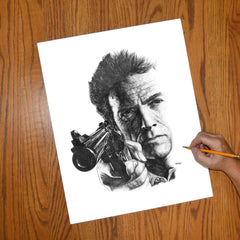 Make My Day Clint Eastwood Wall Art - JWB Art Unlimited