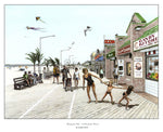 Watching the Kids - A Boardwalk Moment - JWB Art Unlimited