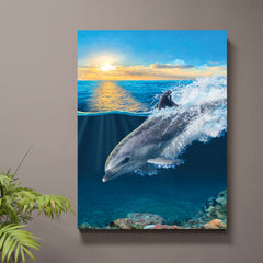 On Porpoise Dolphin Art Print