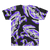 "T-Shirt - All-Over Purple on Black ""Craboflage"" Design"