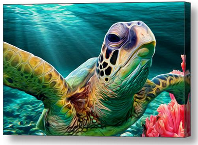 Sea Cruise Sea Turtle Wall Art - JWB Art Unlimited