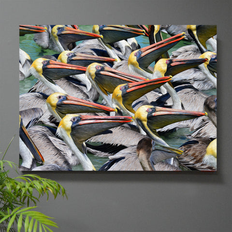 Standing Room Only Pelican Print or Canvas