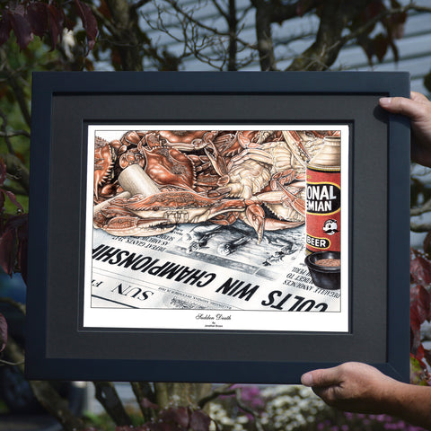 Sudden Death Crab Wall Art - Baltimore Colts Superbowl Win - JWB Art Unlimited