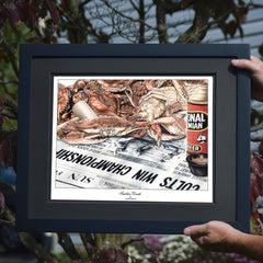 Sudden Death Crab Art Print - Baltimore Colts Superbowl Win