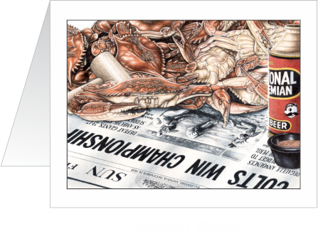 Sudden Death Colts Note Cards - JWB Art Unlimited