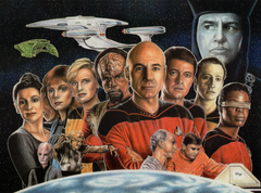 Star Trek: Next Generation Crew Wall Art - JWB Art Unlimited