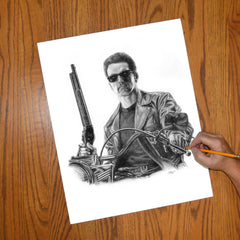 Terminator - Arnold Portrait Wall Art - JWB Art Unlimited