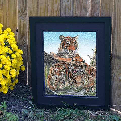 Royal Stripes Tiger Wall Art