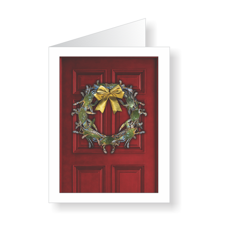 Watermen's Welcome Crab Wreath Christmas Cards - JWB Art Unlimited