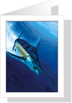 White Plunge - White Marlin Note Cards