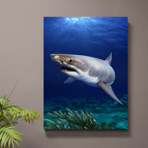 White Water Shark Print or Canvas - JWB Art Unlimited
