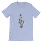 T-Shirt - Unisex Motorcycle Chain Treble Clef Design - JWB Art Unlimited
