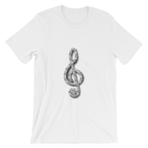 T-Shirt - Unisex Motorcycle Chain Treble Clef Design