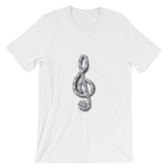 Unisex Tee - Motorcycle Chain Treble Clef Design