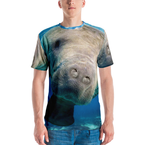 T-Shirt - All-Over Hugh Manatee Design