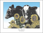 Moove it on Over Cow Note Cards