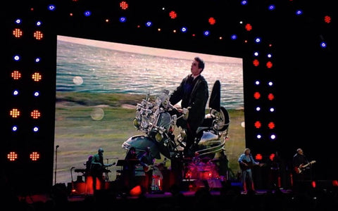 The Who live in Nottingham with Quadrophenia in the background