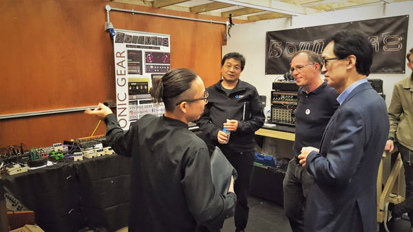 Takami-san, Ace & Miki-san from Roland with Tony Miln, Soundgas