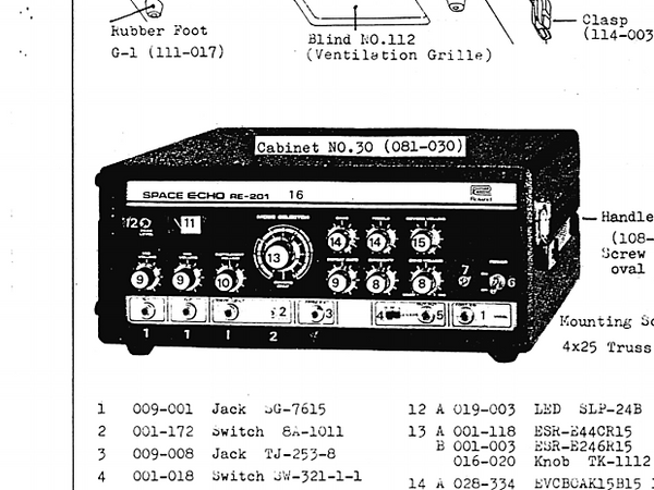 Roland RE-201 Service Manual
