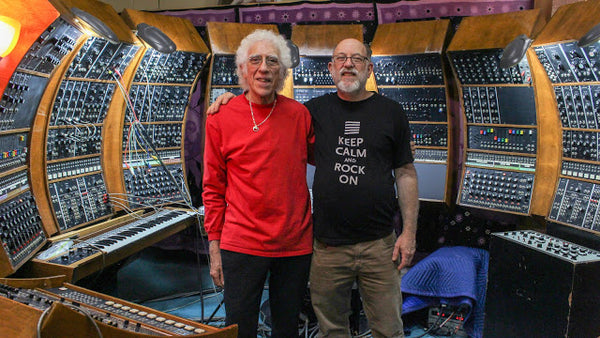 John Leimseider & Malcolm Cecil in front of The Original New Timbral Orchestra (TONTO)