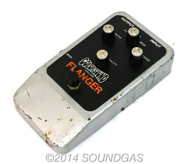 colorsound flanger vintage guitar pedal for sale soundgas vintage effects guitar amps. Black Bedroom Furniture Sets. Home Design Ideas