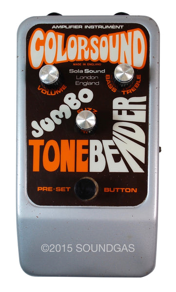 colorsound jumbo tonebender vintage guitar effect pedal for sale soundgas classic. Black Bedroom Furniture Sets. Home Design Ideas