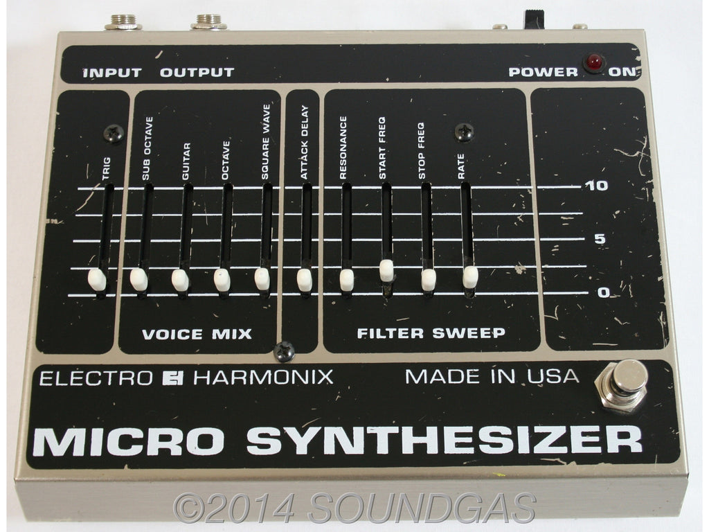 electro harmonix micro synth analogue synth effect pedal for sale soundgas vintage effects. Black Bedroom Furniture Sets. Home Design Ideas
