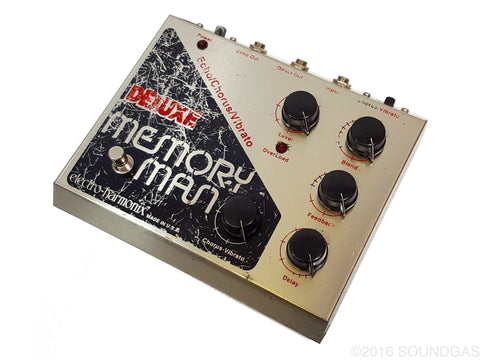 electro harmonix deluxe memory man vintage delay pedal for sale soundgas vintage effects. Black Bedroom Furniture Sets. Home Design Ideas