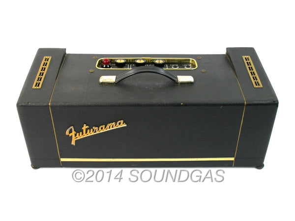 Selmer Futurama Bassist, vintage guitar amplifier (Top)