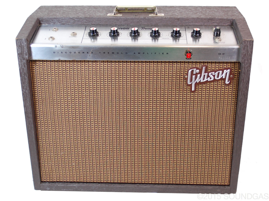 for sale gibson ga 8t discoverer tremolo vintage amp soundgas vintage effects guitar amps. Black Bedroom Furniture Sets. Home Design Ideas