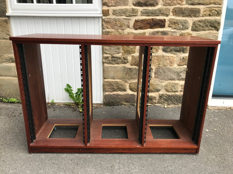 Studio Furniture - 3 x 19u Mahogany Finish Rack Unit