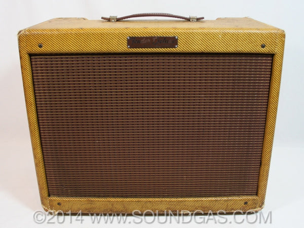 1958 FENDER DELUXE 5E3 TWEED Narrow Panel