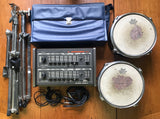 Pearl Syncussion SY-1 (Dual Output & CV Input Mods), Drum Pads, Stands, Case, Cables