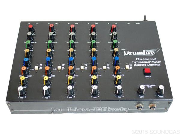 Drumfire DF500 Five Channel Synthesizer Mixer Remote Controls.