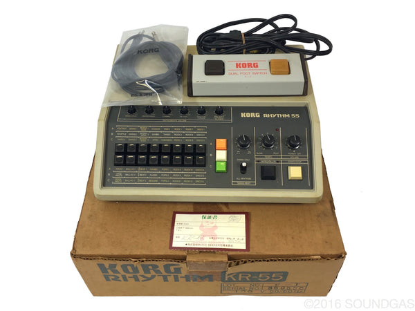 korg rhythm kr 55 drum machine for sale soundgas vintage effects guitar amps synths. Black Bedroom Furniture Sets. Home Design Ideas