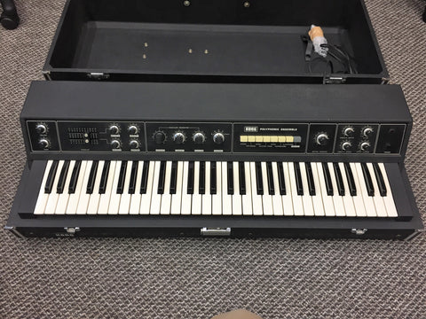 Korg PE-1000 Polyphonic Ensemble + all pedals & stand