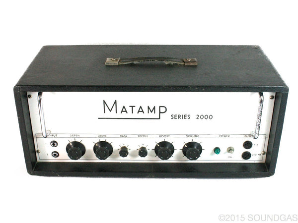 Matamp Series 2000 Valve Amplifier Head (Cover)