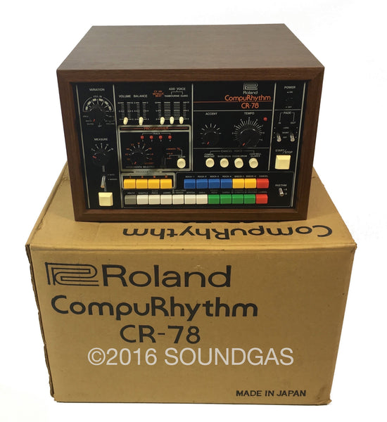 roland cr 78 compurhythm immaculate vintage drum machine for sale soundgas classic. Black Bedroom Furniture Sets. Home Design Ideas