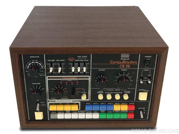 roland cr 78 compurhythm serviced vintage drum machine for sale soundgas classic vintage. Black Bedroom Furniture Sets. Home Design Ideas