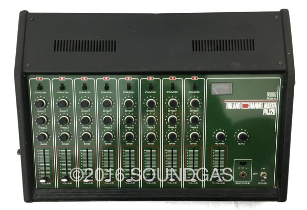 roland 8 channel mixer soundgas vintage effects guitar amps synths pedals and more. Black Bedroom Furniture Sets. Home Design Ideas