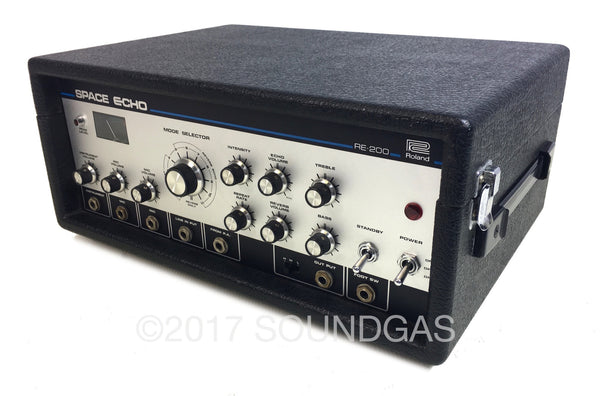 roland re 200 space echo rare early re 201 tape echo delay for sale soundgas classic. Black Bedroom Furniture Sets. Home Design Ideas