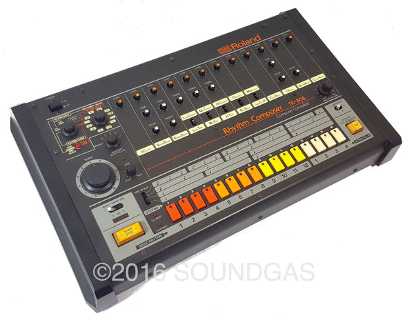 roland tr 808 drum machine for sale fully serviced soundgas classic vintage recording. Black Bedroom Furniture Sets. Home Design Ideas