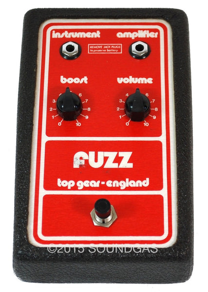 for sale top gear fuzz vintage bc184c fuzz pedal soundgas vintage effects guitar amps. Black Bedroom Furniture Sets. Home Design Ideas
