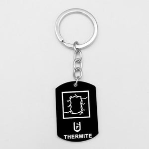 Blacked out Rainbow Six: Siege Operator Keychain - The Tura Store