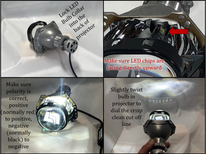 H11 Precision Projector Specific LED Bulbs- 7200lm
