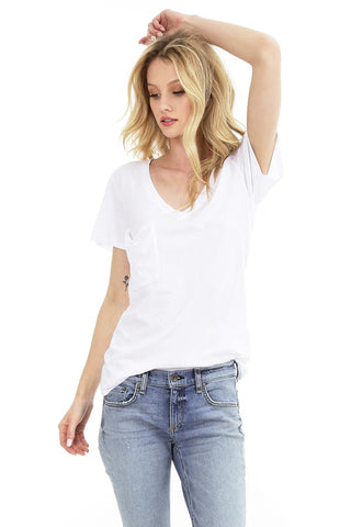 Bobi Lightweight V-Neck Pocket T-Shirt - 3 colours