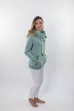 Load image into Gallery viewer, Wanakome Hestia Zip-Up Sweater In Green Bay