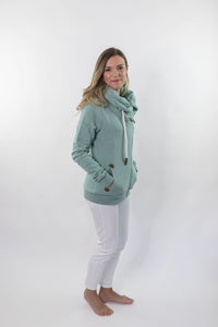 Wanakome Hestia Zip-Up Sweater In Green Bay