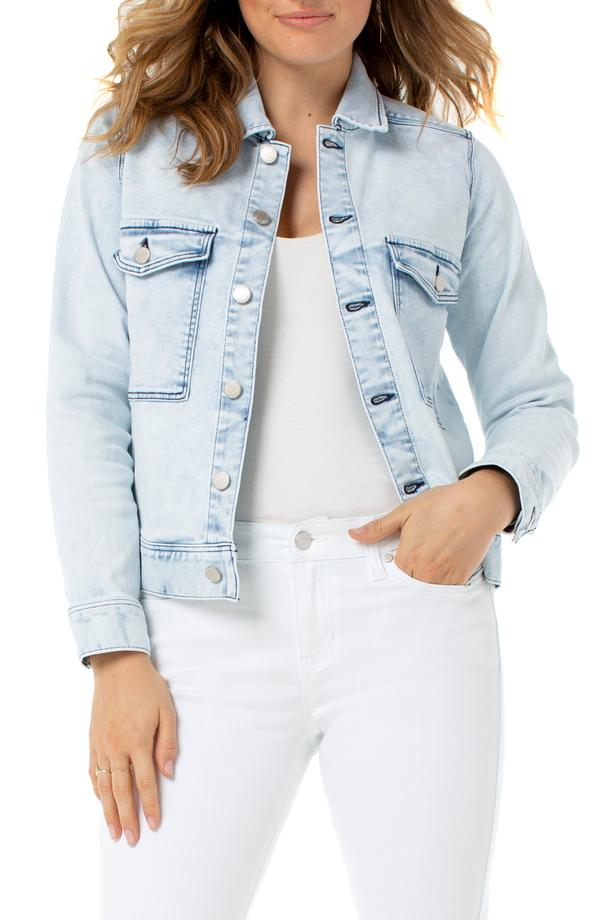 Liverpool Denim Jacket with Patch Pockets