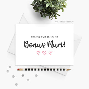 Bonus Mum / Mom Card